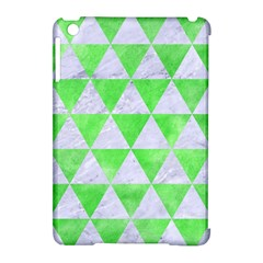 Triangle3 White Marble & Green Watercolor Apple Ipad Mini Hardshell Case (compatible With Smart Cover) by trendistuff