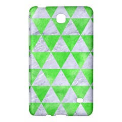 Triangle3 White Marble & Green Watercolor Samsung Galaxy Tab 4 (8 ) Hardshell Case  by trendistuff