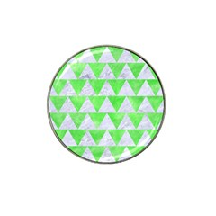 Triangle2 White Marble & Green Watercolor Hat Clip Ball Marker by trendistuff