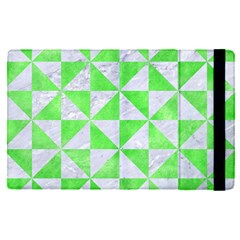 Triangle1 White Marble & Green Watercolor Apple Ipad Pro 9 7   Flip Case by trendistuff