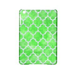 Tile1 White Marble & Green Watercolor Ipad Mini 2 Hardshell Cases by trendistuff