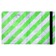 Stripes3 White Marble & Green Watercolor (r) Ipad Mini 4 by trendistuff