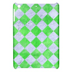 Square2 White Marble & Green Watercolor Apple Ipad Mini Hardshell Case by trendistuff