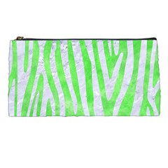 Skin4 White Marble & Green Watercolor (r) Pencil Cases