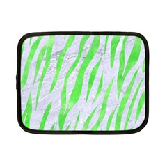 Skin3 White Marble & Green Watercolor (r) Netbook Case (small)  by trendistuff