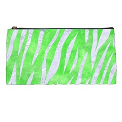 Skin3 White Marble & Green Watercolor Pencil Cases by trendistuff