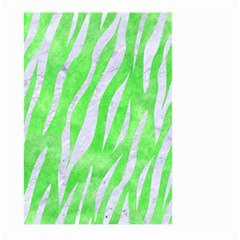 Skin3 White Marble & Green Watercolor Large Garden Flag (two Sides) by trendistuff