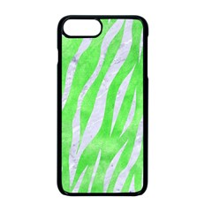 Skin3 White Marble & Green Watercolor Apple Iphone 8 Plus Seamless Case (black) by trendistuff