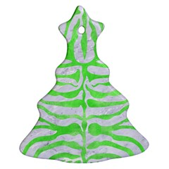 Skin2 White Marble & Green Watercolor (r) Ornament (christmas Tree)  by trendistuff