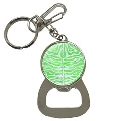 Skin2 White Marble & Green Watercolor Bottle Opener Key Chains by trendistuff