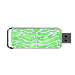 Skin2 White Marble & Green Watercolor Portable Usb Flash (two Sides) by trendistuff