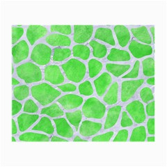 Skin1 White Marble & Green Watercolor (r) Small Glasses Cloth (2 Side) by trendistuff