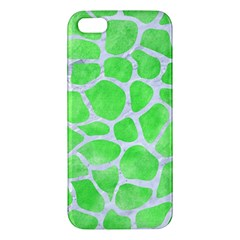 Skin1 White Marble & Green Watercolor (r) Iphone 5s/ Se Premium Hardshell Case by trendistuff