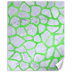 Skin1 White Marble & Green Watercolor Canvas 16  X 20   by trendistuff