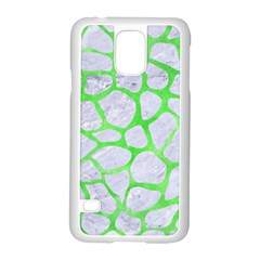 Skin1 White Marble & Green Watercolor Samsung Galaxy S5 Case (white) by trendistuff
