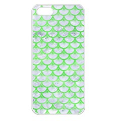 Scales3 White Marble & Green Watercolor (r) Apple Iphone 5 Seamless Case (white) by trendistuff