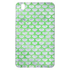 Scales3 White Marble & Green Watercolor (r) Samsung Galaxy Tab Pro 8 4 Hardshell Case by trendistuff
