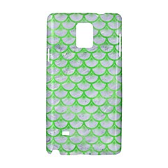 Scales3 White Marble & Green Watercolor (r) Samsung Galaxy Note 4 Hardshell Case by trendistuff