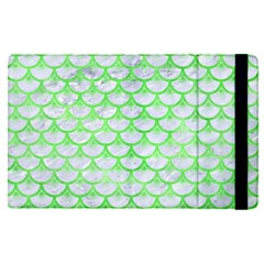 Scales3 White Marble & Green Watercolor (r) Ipad Mini 4 by trendistuff