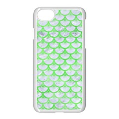 Scales3 White Marble & Green Watercolor (r) Apple Iphone 8 Seamless Case (white) by trendistuff