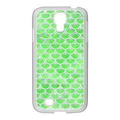 Scales3 White Marble & Green Watercolor Samsung Galaxy S4 I9500/ I9505 Case (white) by trendistuff