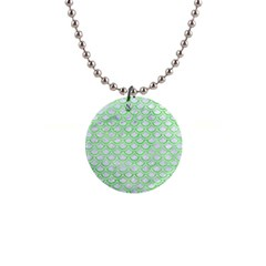Scales2 White Marble & Green Watercolor (r) Button Necklaces by trendistuff
