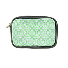 Scales2 White Marble & Green Watercolor (r) Coin Purse by trendistuff
