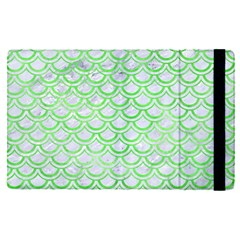 Scales2 White Marble & Green Watercolor (r) Apple Ipad Pro 12 9   Flip Case by trendistuff