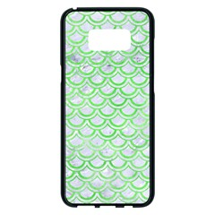 Scales2 White Marble & Green Watercolor (r) Samsung Galaxy S8 Plus Black Seamless Case by trendistuff