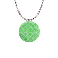 Scales2 White Marble & Green Watercolor Button Necklaces by trendistuff