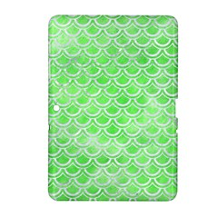 Scales2 White Marble & Green Watercolor Samsung Galaxy Tab 2 (10 1 ) P5100 Hardshell Case  by trendistuff