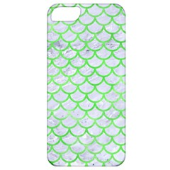 Scales1 White Marble & Green Watercolor (r) Apple Iphone 5 Classic Hardshell Case by trendistuff