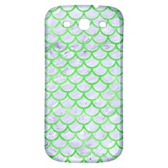 Scales1 White Marble & Green Watercolor (r) Samsung Galaxy S3 S Iii Classic Hardshell Back Case by trendistuff