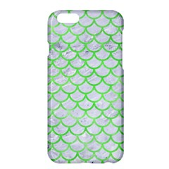 Scales1 White Marble & Green Watercolor (r) Apple Iphone 6 Plus/6s Plus Hardshell Case by trendistuff