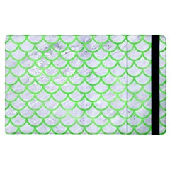 Scales1 White Marble & Green Watercolor (r) Ipad Mini 4 by trendistuff