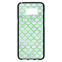 Scales1 White Marble & Green Watercolor (r) Samsung Galaxy S8 Plus Black Seamless Case by trendistuff