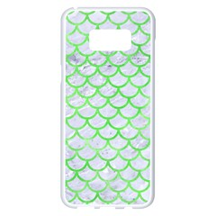 Scales1 White Marble & Green Watercolor (r) Samsung Galaxy S8 Plus White Seamless Case by trendistuff
