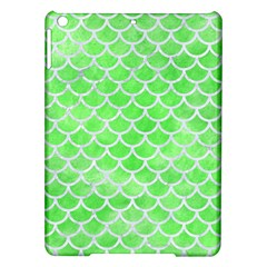 Scales1 White Marble & Green Watercolor Ipad Air Hardshell Cases by trendistuff