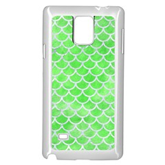 Scales1 White Marble & Green Watercolor Samsung Galaxy Note 4 Case (white) by trendistuff