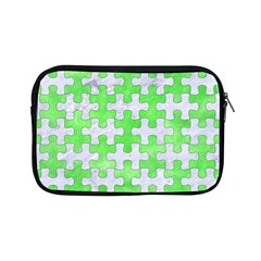 Puzzle1 White Marble & Green Watercolor Apple Ipad Mini Zipper Cases by trendistuff
