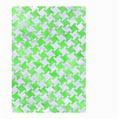 Houndstooth2 White Marble & Green Watercolor Small Garden Flag (two Sides) by trendistuff