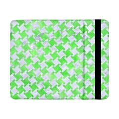 Houndstooth2 White Marble & Green Watercolor Samsung Galaxy Tab Pro 8 4  Flip Case by trendistuff