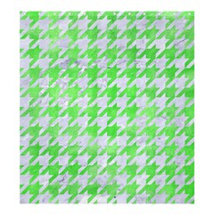Houndstooth1 White Marble & Green Watercolor Shower Curtain 66  X 72  (large)  by trendistuff