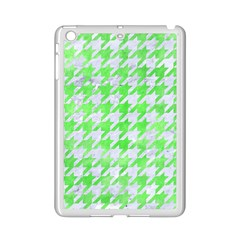 Houndstooth1 White Marble & Green Watercolor Ipad Mini 2 Enamel Coated Cases by trendistuff