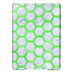 Hexagon2 White Marble & Green Watercolor (r) Ipad Air Hardshell Cases by trendistuff