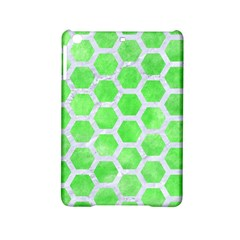 Hexagon2 White Marble & Green Watercolor Ipad Mini 2 Hardshell Cases by trendistuff
