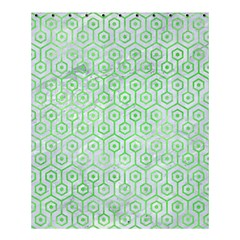 Hexagon1 White Marble & Green Watercolor (r) Shower Curtain 60  X 72  (medium)  by trendistuff