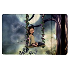 Cute Little Fairy With Kitten On A Swing Ipad Mini 4 by FantasyWorld7