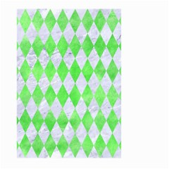 Diamond1 White Marble & Green Watercolor Large Garden Flag (two Sides) by trendistuff