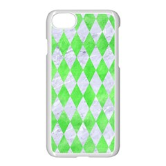 Diamond1 White Marble & Green Watercolor Apple Iphone 8 Seamless Case (white) by trendistuff